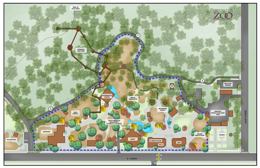 sequoia park zoo master plan map revised 2019